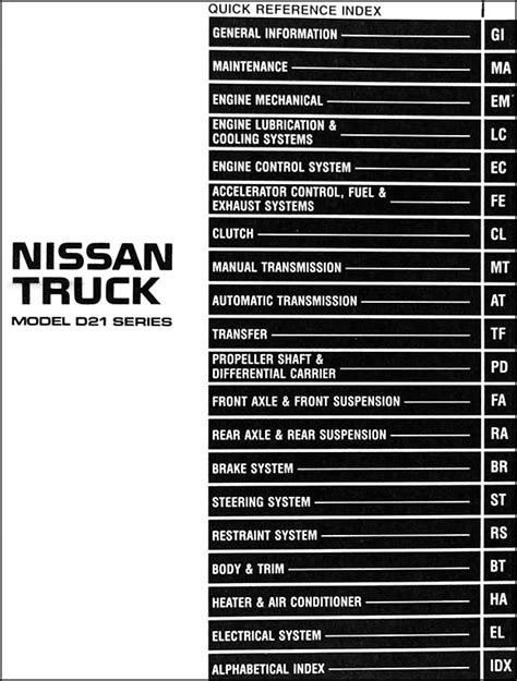 small engine service manuals 1998 nissan frontier auto manual 1996 nissan pickup truck repair shop manual original