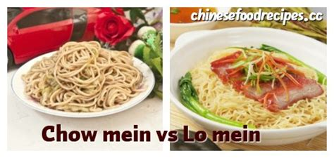 difference between lo mein and chow mein www pixshark