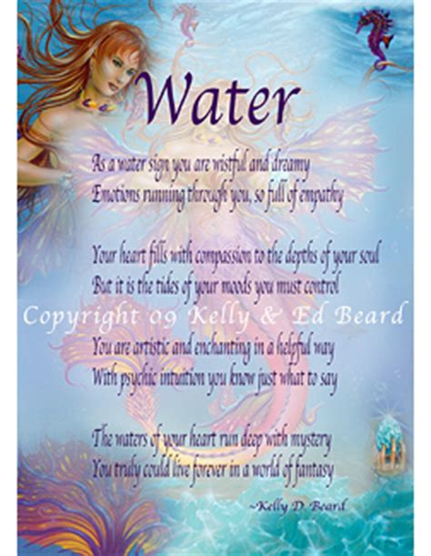 aquamarine mermaid fairy water elemental 16 x 22 art of ed beard jr