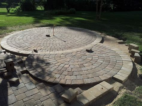 Circular Patio Pavers 74 Best Backyard Dreaming Images On Pinterest Garden