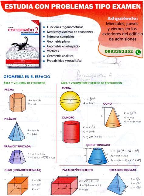 figuras geometricas area y volumen volumen de figuras geometricas