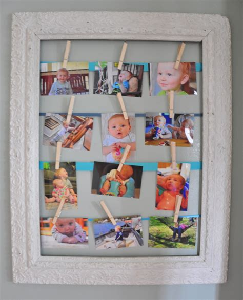 how to display photo frames picture frame clothes pin photo display