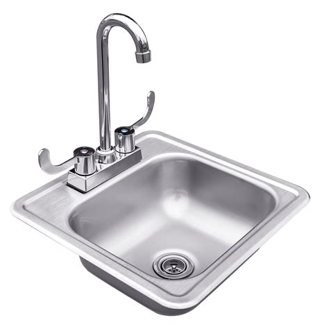 stainless steel drop in sink with faucet summerset grills