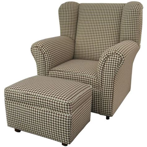 wingback chair and ottoman slipcover inspire furniture
