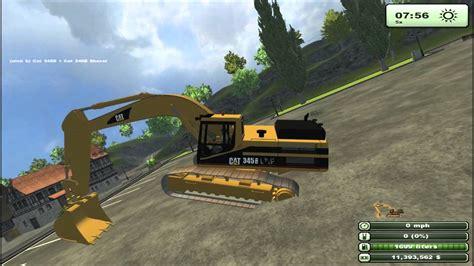 Mod Game Farming Simulator 2013   farming simulator 2013 mod spotlight cat execavator youtube