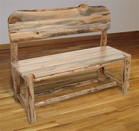 log benches with backs log benches rustic log furniture mountain hewn bench