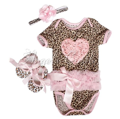 toddler clothes and shoes newborn baby leopard romper headband shoes