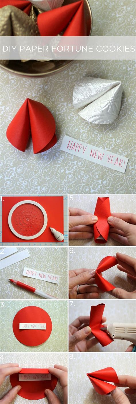 new year fortune cookies craft paper fortune cookies for new year february in