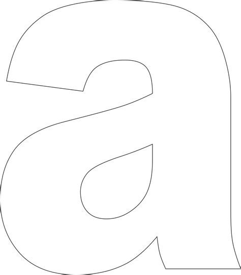 letter cut out template lowercase letter a template printable
