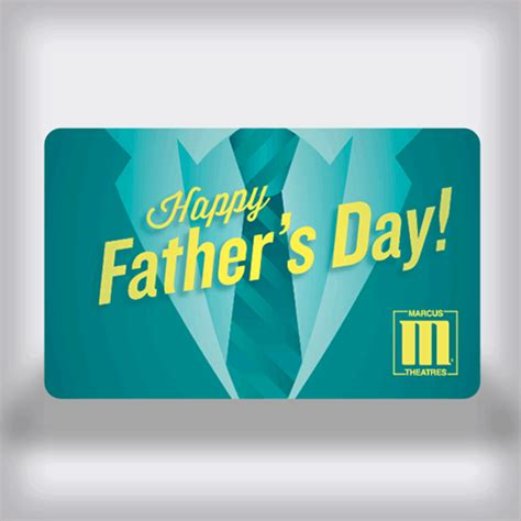 Movie Tickets Gift Card Balance - marcus theatres father s day movie gift card tie edition