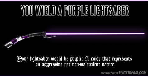 what color lightsaber which color of lightsaber better suits you armor