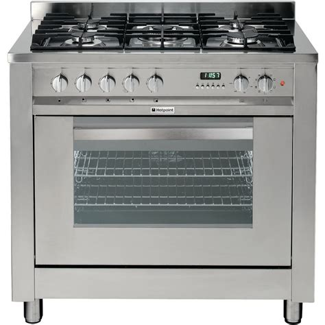Oven Gas 1 Pintu hotpoint ultima eg900x s cooker stainless steel