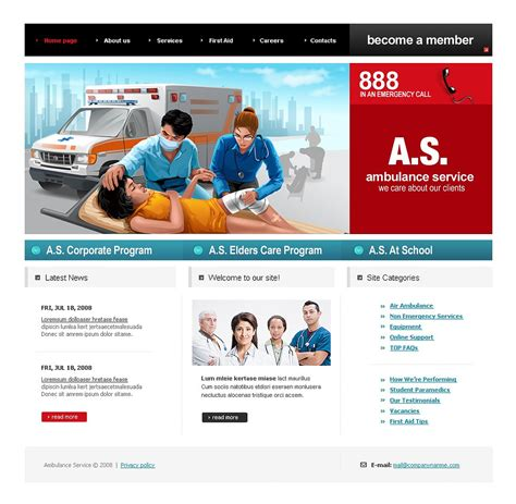 membership brochure template ambulance website template 23272