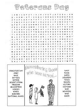 printable word search veterans day veterans day word search puzzle 3rd grade 4th grade