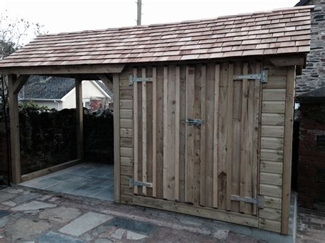Shed With Wood Store by Shed Log Store The Wooden Workshop Oakford