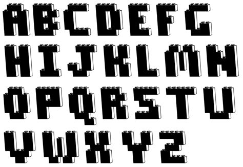 the portfolio of victor michnowicz lego font