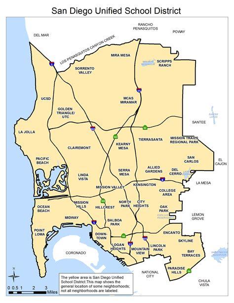 san diego district map calendar template 2016