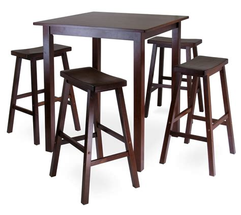 High Bar Table Review Winsome S Parkland 5 Square High Pub Table Set In Really Table Set Pub
