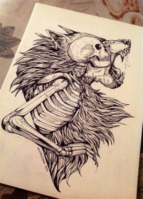 modern tattoo inspiration wolf skull skull tattoo tattoo idea wolf tattoo cool