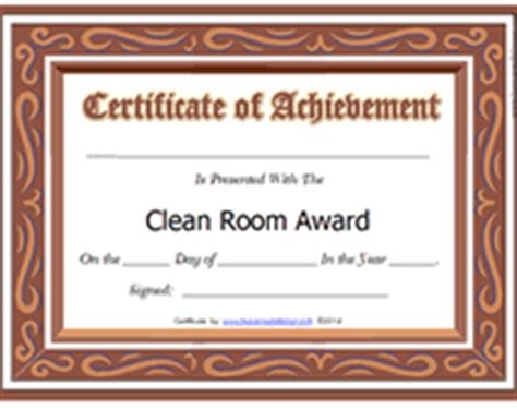 clean room certification clean up award certificate template just b cause