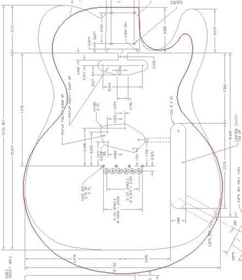 telecaster template printable guitar template pdf page 3 telecaster