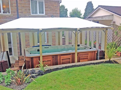 gazebo it 2 tub gazebos swim spa enclosures white pavilion