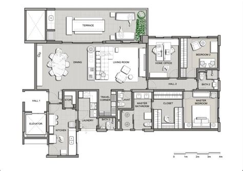 home interior design maps modern apartment plans dands