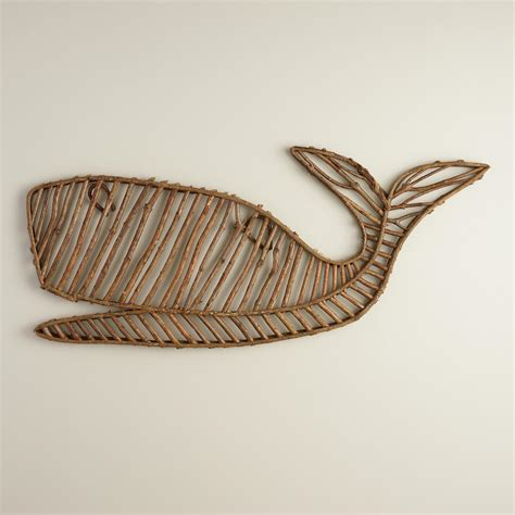 twig wall decor whale twig wall d 233 cor world market