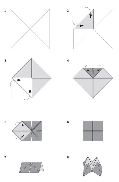 Folded Paper Fortune Teller - 208 best cootie catchers images on fortune