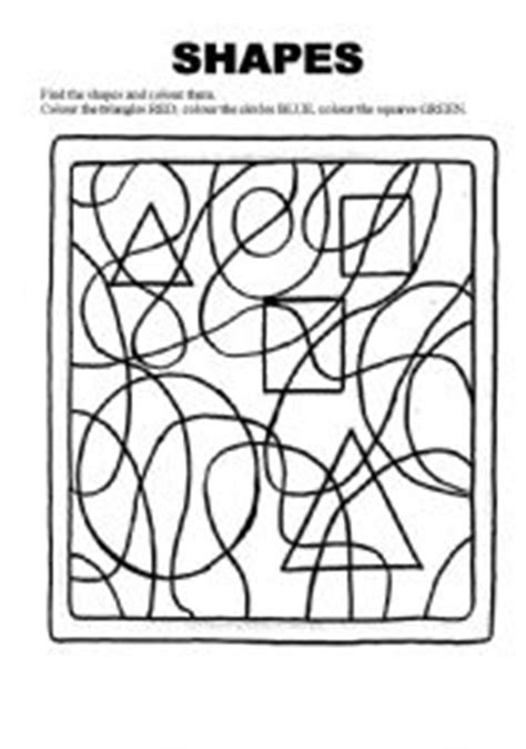 printable hidden shapes pictures english worksheets shapes find and colour the shapes