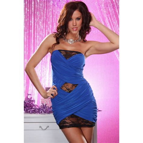 Kode Babydoll Gold 02 1 blue mini dress n1552
