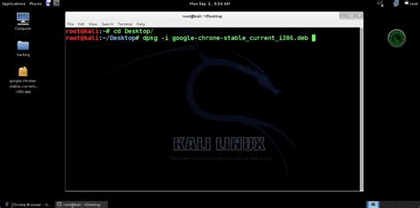 chrome kali linux how to install google chrome in kali linux binary hackers