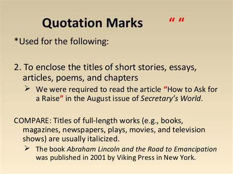 Quoting Definitions In Essay by How To Punctuate A Poem Title In An Essay