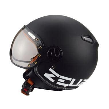 Helm Zeus Zs 210 jual zeus zs 210 helm half matt black dd11 white harga kualitas terjamin