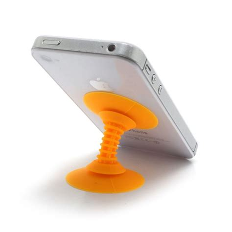 support smartphone bureau support de bureau pour smartphone ventouse orange