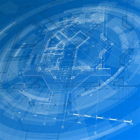 architecture design blueprint house plan stock vector