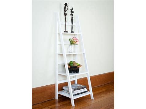 Bookshelf Awesome Ladder Bookshelf White Captivating Leaning Bookcase White