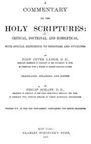 commentary on the holy scriptures critical doctrinal and homiletical with special reference to ministers and students classic reprint books a commentary on the holy scriptures critical doctrinal