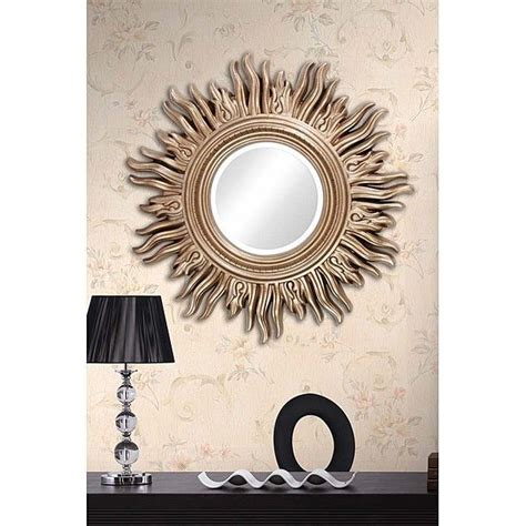 sun mirror wall decor 34 quot large decorative living room mirror gold sun shaped