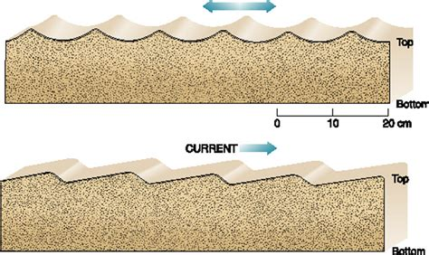 pattern formation asymmetry sedimentary structures revision cards in a level and ib