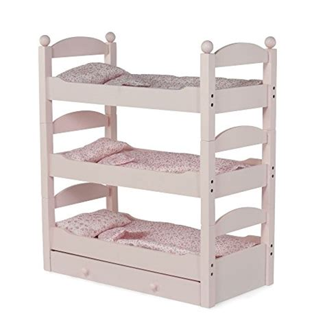 18 Doll Bunk Bed 18 Inch Doll Bunk Bed Stackable Wooden Furniture Made To Fit American Ebay