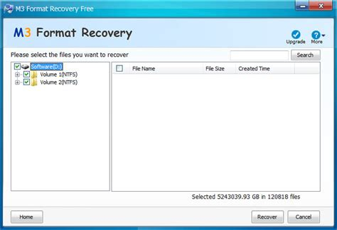 format video recovery software free download screenshot review downloads of freeware m3 format