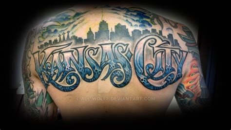 kansas city top rocker tattoo by all wolff on deviantart