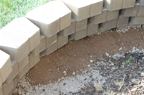 to install the retaining wall blocks the home redesign