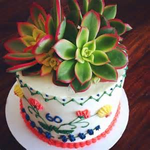 mexican themed succulent cake
