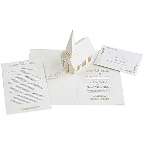 bed bath and beyond wedding invitations buy 24 count chapel pop up wedding invitations from bed