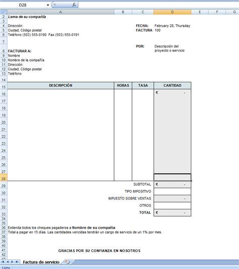 descargar plantillas facturas servicios profesionales plantillas de excel plantilla de factura el profe de excel