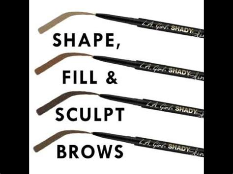 La Shady Slim Brow Pencil Warm Brown shady slim brow pencil la cosmetics