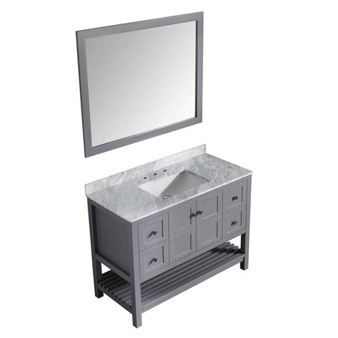 Montaigne Bath Vanity by Anzzi Montaigne 48 In W X 22 In D Vanity In Gray With