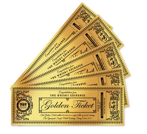 Golden Ticket Sweepstakes - the whisky exchange golden ticket giveaway it could be you the whisky